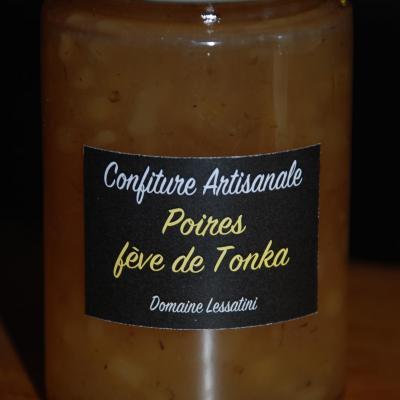 Confiture de Poire et fève de Tonka 230g