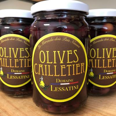 BLACK OLIVES CAILLETIER with herbs 230g