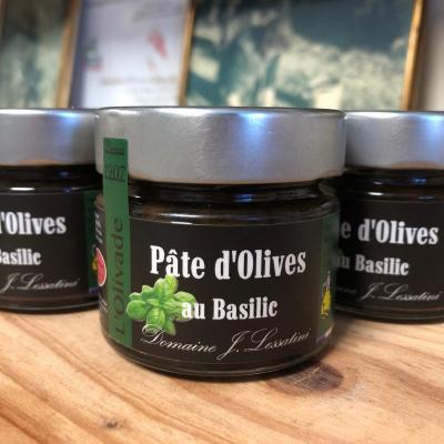 Pâte d'olive basilic 90g